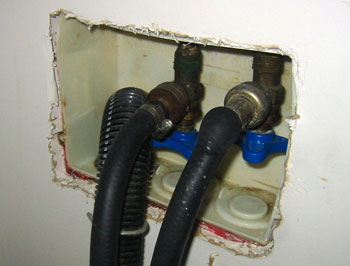 Damaged washer hoses